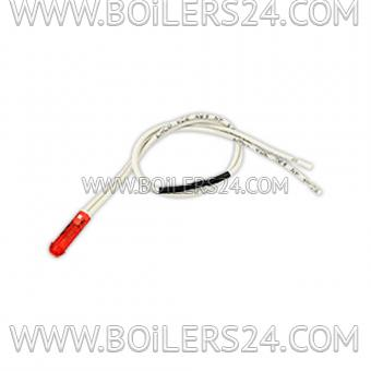 Baltur Light bulb red D6 with wire 250 mm, 0005120133