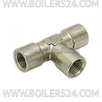 Baltur Fitting T-shaped 1/8 mother + mother + mother, 23845