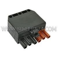 Ecoflam Wieland connector 6-pin PA=118404, 65322072