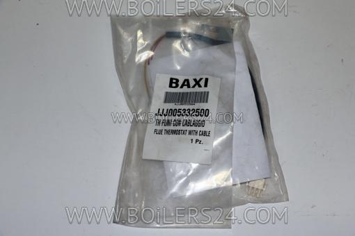 Baxi Flue gas safety thermostat with wire, JJJ005332500