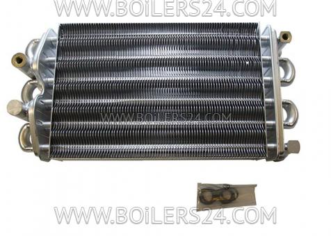 Baxi Core heat exchanger with ring gaskets, JJJ000616170