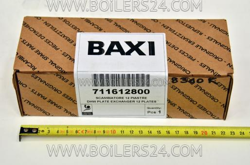 Baxi DHW heat exchanger for 12 plates, 711612800